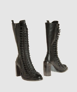 Ann DEMEULEMEESTER Triple Lace Up Boots 40 | eBay