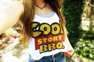 t-shirt tank top cool story bro swag movie