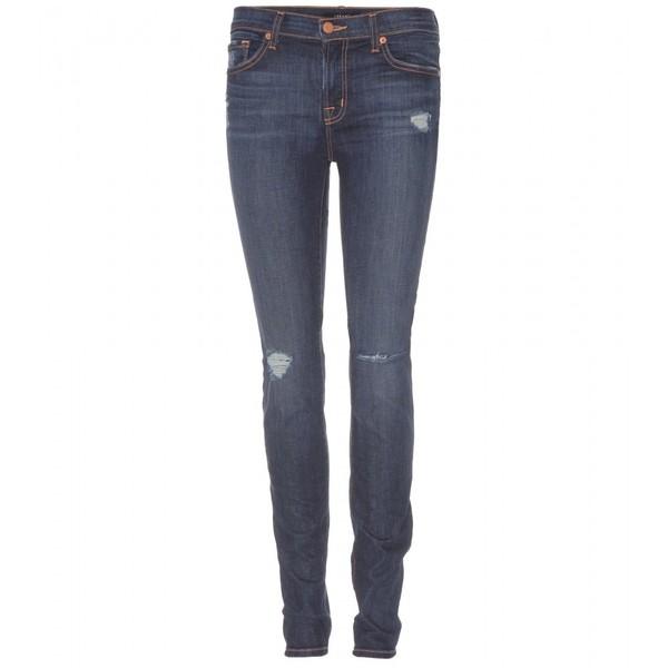 J Brand 811 Mid-Rise Destructed Skinny Jeans - Polyvore