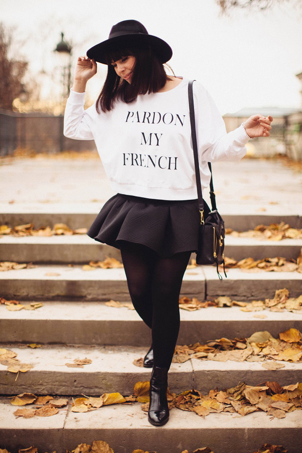 wish wish wish sweater skirt hat bag shoes tumblr tumblr girl tumblr clothes tumblr outfit