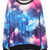 Colorful Galaxy Print Jumper Sweatshirt - PrettyGuide