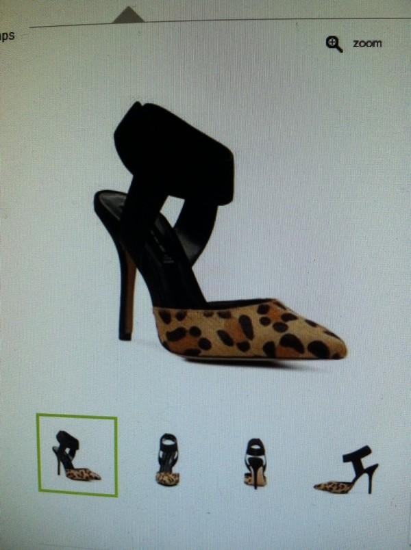 shoes steve madden leopard and black