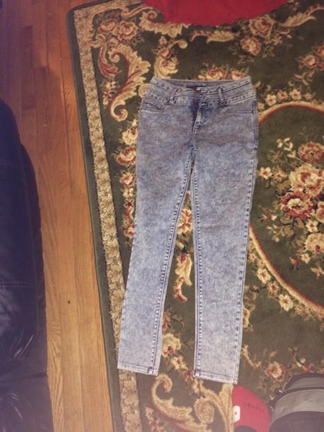 jeans high-waist bleached jeans