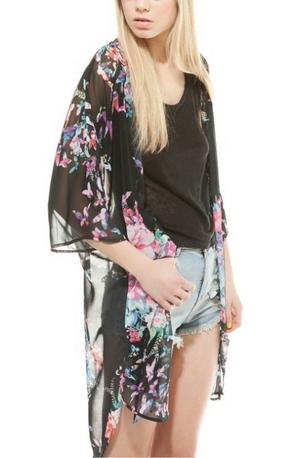 Butterfly Print Kimono - Juicy Wardrobe