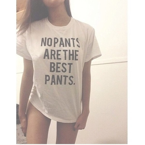 t-shirt black writing pants no pants funny shirt cute