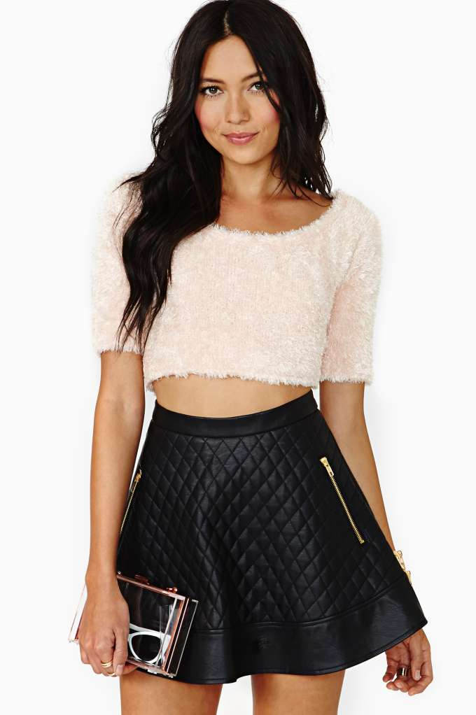 Nasty Gal Soft Touch Crop Top in  Clothes Sale at Nasty Gal