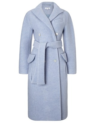 Blue Crushed Wool Coat | Carven | Avenue32