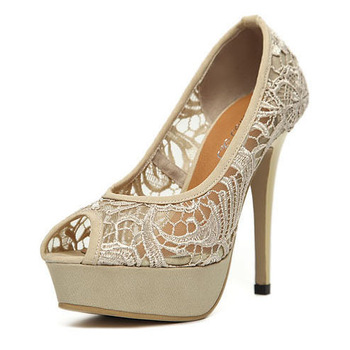 Hot Selling Sexy Lace Platform Peep Toe Pumps for Women Fashion Evning Party High Heels Wedding Shoes Women Pumps Free Shipping -in Pumps from Shoes on Aliexpress.com