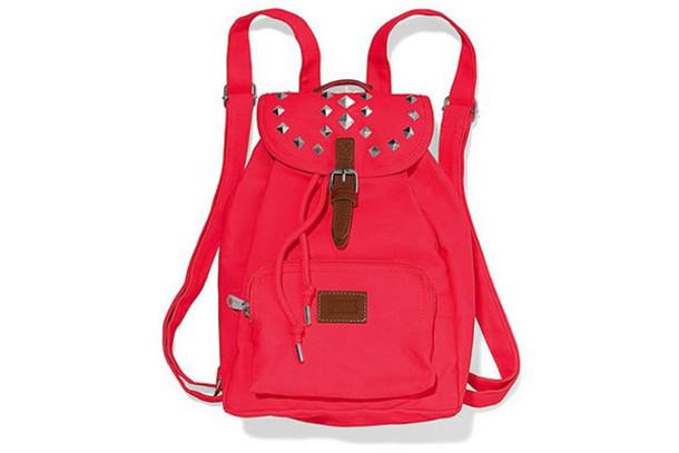 bag studed pink backpack