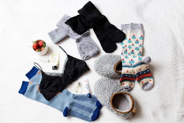 von vogue blogger underwear socks