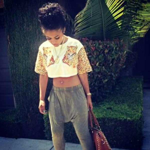 shirt tank top animal print love orange green cute crop tops india westbrooks pants