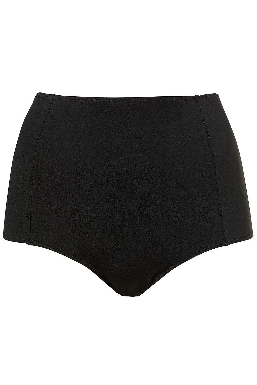 Black High Waisted Bikini Pants - Swimwear - Clothing - Topshop USA on Wanelo