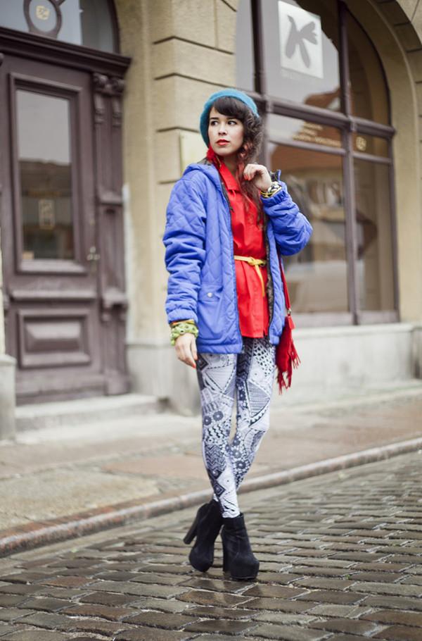 macademian girl jacket jeans shirt bag shoes jewels