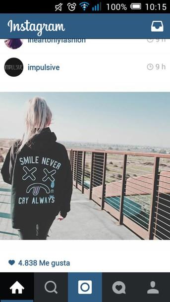 jacket grunge print hoodie