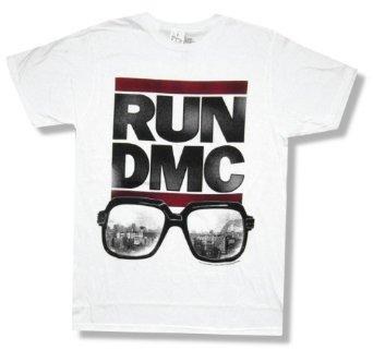 "Amazon.com: Run DMC ""Sunglasses"" White T-Shirt New Adult: Clothing"