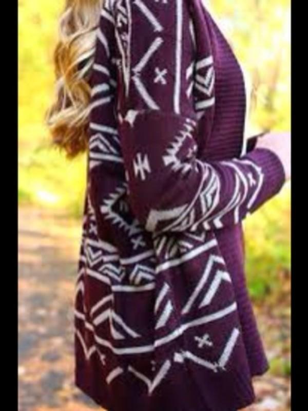 sweater knit cardigan aztec