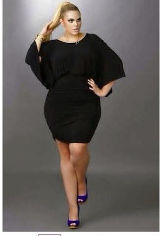 dress little black dress short black wide large large style cap sleeves