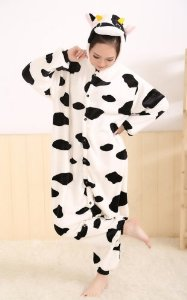 Amazon.com - Kigurumi Winter Cow Pajamas Cosplay Costume Footed Sleepwear For Women Men Size XL