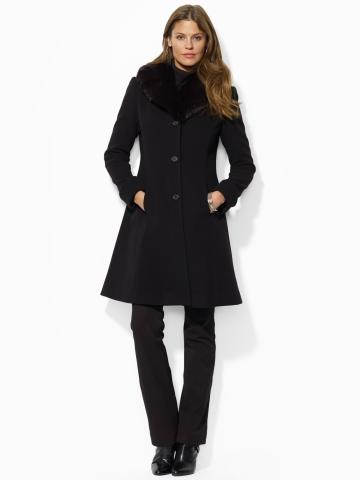 Long Shawl-Collar Coat - Outerwear  Women - RalphLauren.com