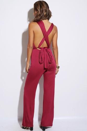 Love Sprung Burgundy Convertible Jumpsuit - JuJu's Closet