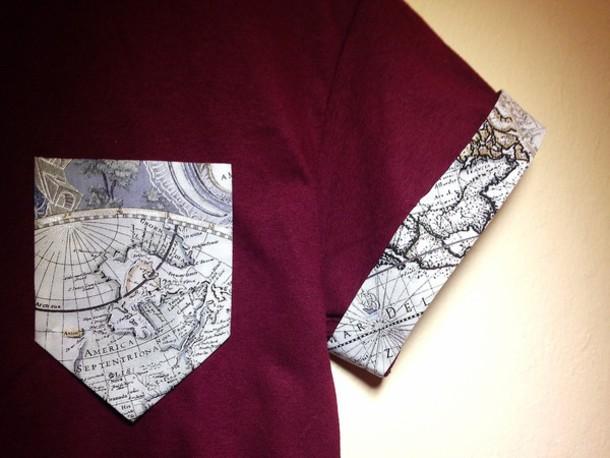 t-shirt top pocket t-shirt