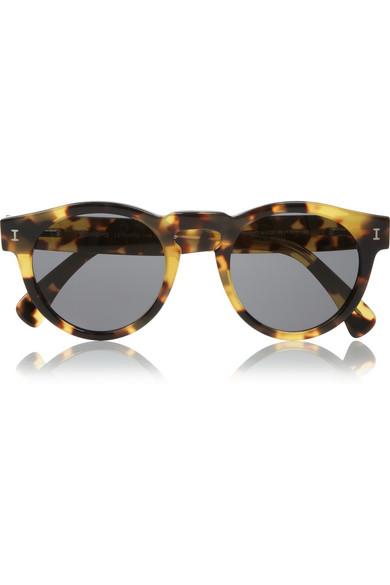 Illesteva Leonard round-frame tortoiseshell sunglasses NET-A-PORTER.COM