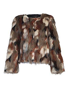 Aftershock Robyn faux fur jacket Brown - House of Fraser