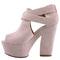 Womens ladies suede platform high wedge womens strappy wedge heel shoes gizz 3-8 | ebay