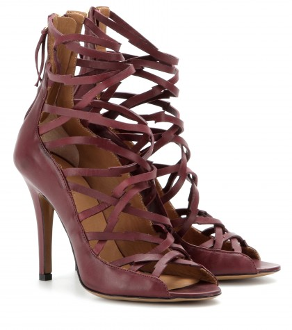 mytheresa.com -  Paw leather sandals - High heel - Sandals - Shoes - Luxury Fashion for Women / Designer clothing, shoes, bags