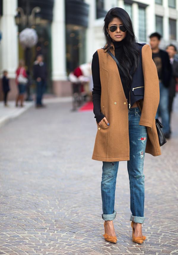 walk in wonderland t-shirt coat jeans shoes bag