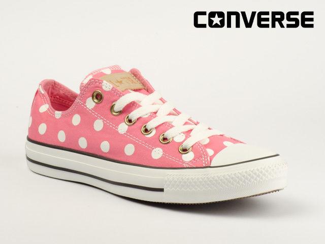 Converse Schuhe Chucks CT ALL Star OX 530050C Polka DOT Strawberry Pink Weiß | eBay