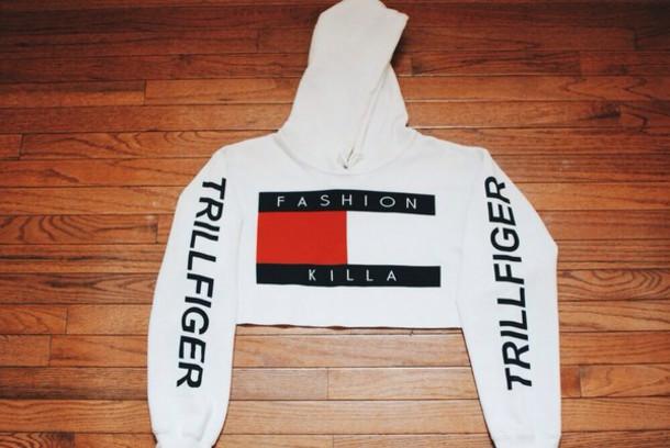 top trillfiger cropped hoodie