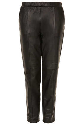 MOTO Leather Front Joggers - Topshop