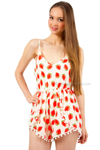 Strawberry Kisses Playsuit | Honey Peaches