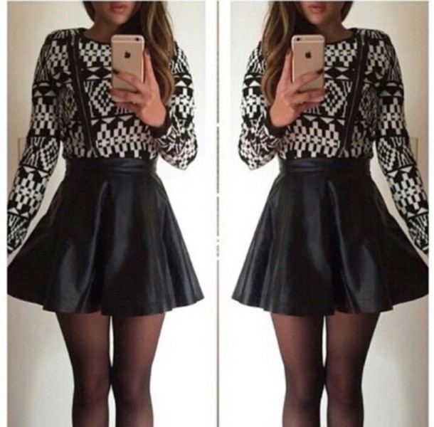 skirt sweater clothes cool fabulous top