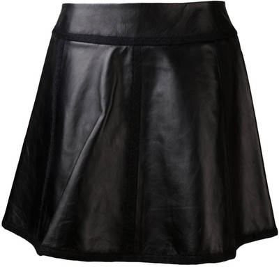 Alexander Wang Leather Flare Skirt - Polyvore