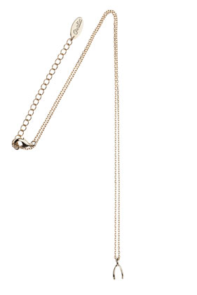 **Wishbone Pendant Necklace by Orelia - Topshop