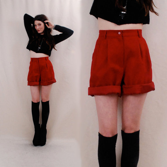Vintage High Waisted Shorts Bloomers xs/s  by paramountvintage