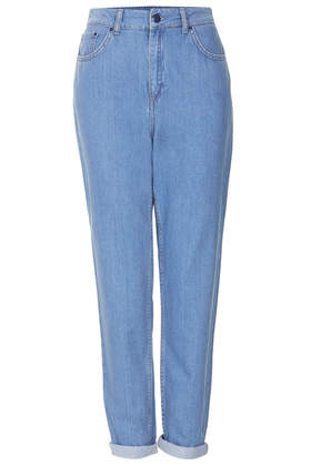 Internet Exclusive - Supersoft Bleach High Waisted Mom Jeans - Topshop