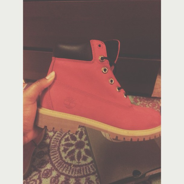 shoes red timberlands timberlands boots
