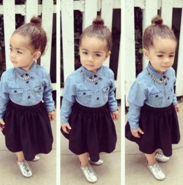 shirt little girl buns lovely