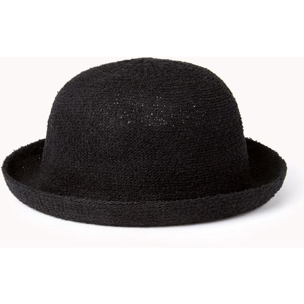 Laid Back Open-Knit Bowler Hat - Forever 21 - Polyvore