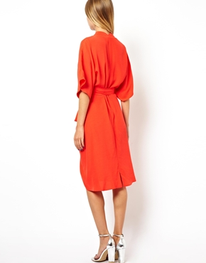 ASOS | ASOS Midi Dress with Kimono Sleeves at ASOS
