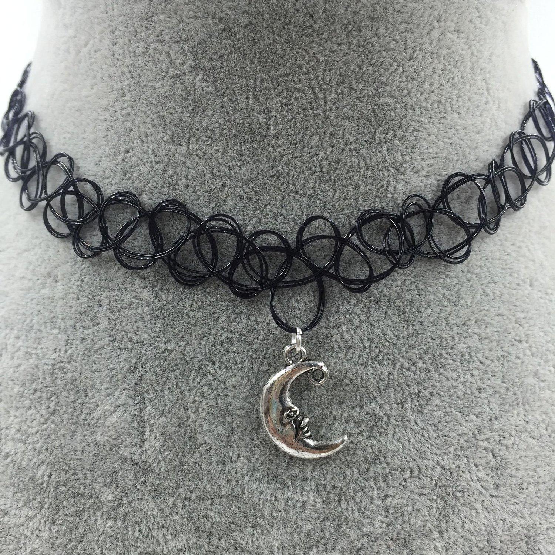 Unique Amazon.com: Longil Women Tattoo Choker Necklace with Yin Yang Bird  GW15