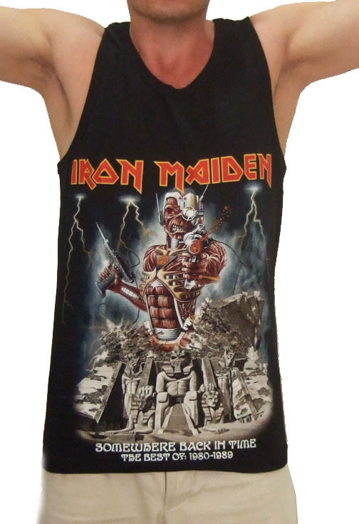Iron Maiden Somewhere Back in Time Metal Tank Top Singlet T Shirt All Sizes | eBay
