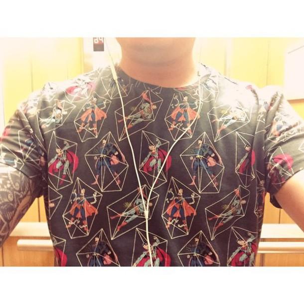 t-shirt superman comics mens t-shirt