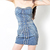 HOT Sexy Womens Strapless Rivets Wrap Chest Peplum Bodycon Nightclub Mini Dress | eBay