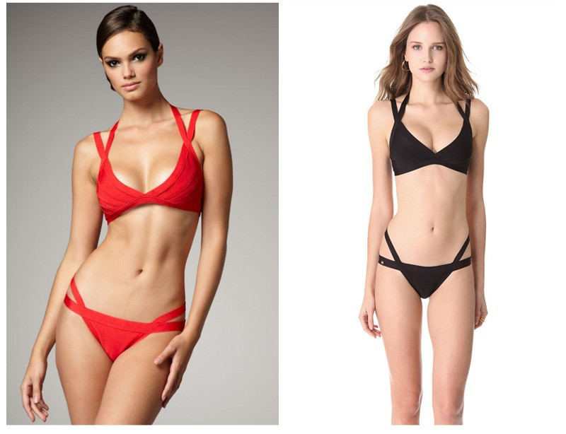 Sexy Bandage Red Triang bikini Swimwear swimsuit set push up bathing suit 2014 new women beach bunny Biquini Agent Provocateur-in Bikinis Set from Apparel & Accessories on Aliexpress.com
