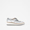 Metallic platform bluchers - view all - shoes - woman   zara united states