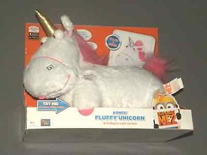 Despicable Me 2 ME2 Agnes' Fluffy Talking Unicorn w Magical Light Up Horn Plush | eBay
